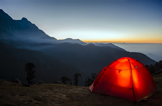 Why a Tent Is Necessary for Camping: Tent and sunrise
