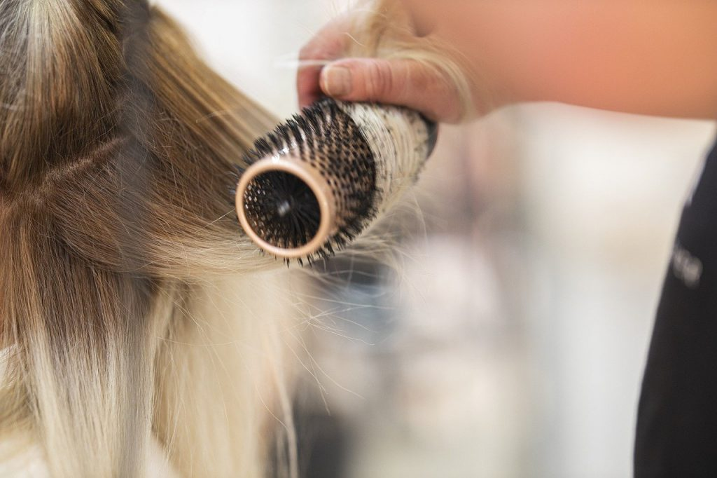 The way you style your hair can cause damage.