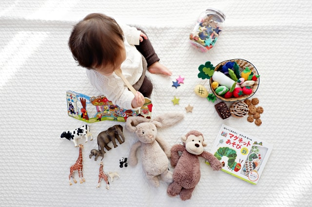 Conclusion: Child playing with toys