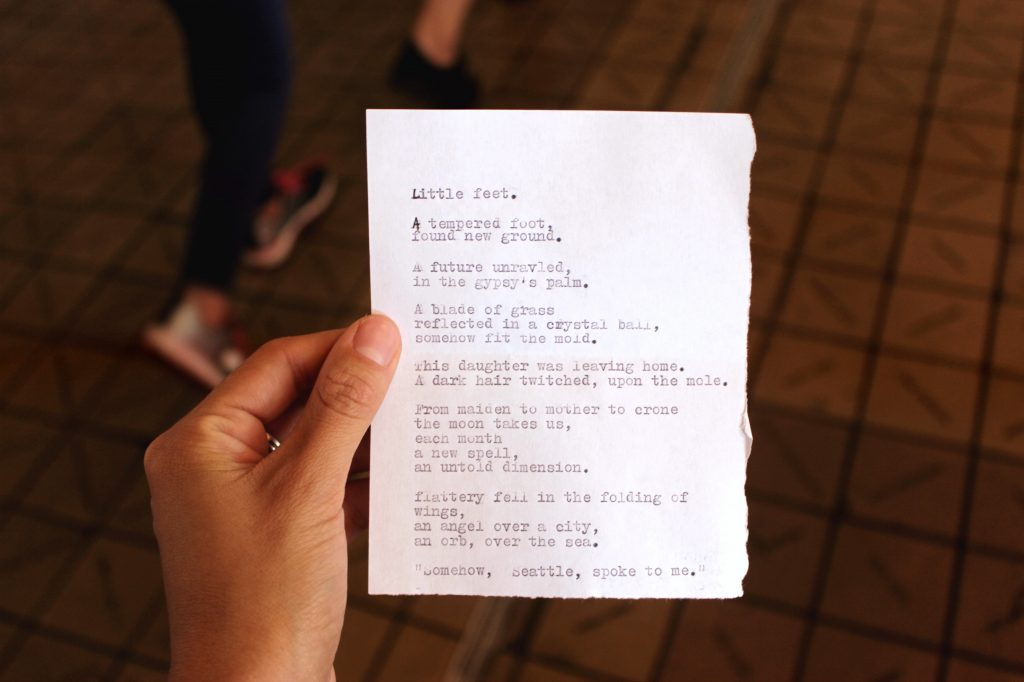 Typed poem