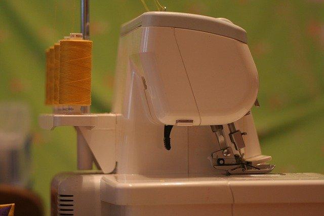 Serger or overlocking sewing machine