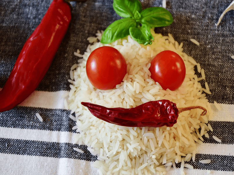 Smiley face of rice