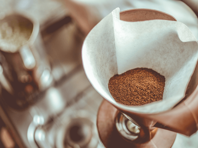 how do you filter cold brew?  coffee grounds in a filter